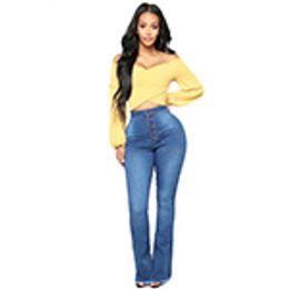 9c44224b6fdcf 2018 Fashion New Vintage Super Flare Jeans Sexy Middle Rise dJeans Femme  Plus Size Hippie Wide Leg Denim Pants Women Free Shipping