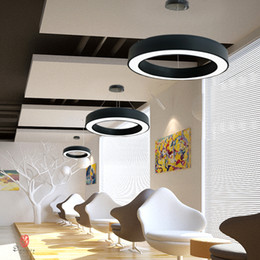$enCountryForm.capitalKeyWord NZ - Industry Style Hanging Lights Aluminum Round Circle Ring Pendant Lamp Modern Ceiling Lights Conference Hall Lounge Home Lighting Free Ship
