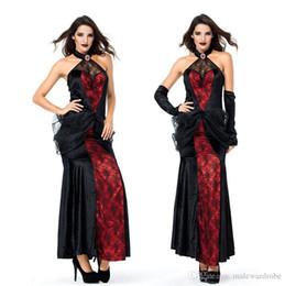 Queen Stage Costumes NZ - Nice Pop Women Cosplay Spider Queen Dress Black Red Halloween Stage Dress
