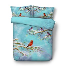 butterfly bedding queen NZ - Girls Floral Leaf Bedding Set With 1 Boho Duvet Cover 2 Pillow Shams Colorful Flowers Branches Butterfly Owl Comforter Quilt Cover