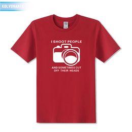 Fashion Photography Prints Australia - 2019 men s designer clothing tshirt Fashion Short Sleeve T Shirt Funny I Shoot People Photographer Gift Camera Photography Printed T-Shirts
