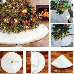 $enCountryForm.capitalKeyWord Australia - Christmas Tree Skirt Decoration White Velvet Tree Skirt Ornament Merry Christmas Year Party Holiday Home Decorations Burlap Xmas HH7-1875