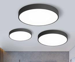 $enCountryForm.capitalKeyWord Australia - LED Ceiling Light Lamp Living Room Lighting Fixture Bedroom Kitchen Surface Mount Flush Ultra-thin LED Panel Light Black White