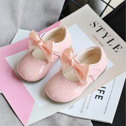 multi color red bottom shoes 2020 - Fashion butterfly knot girls shoes fashion children's princess Leather shoes girls sandals kids soft bottom dancing