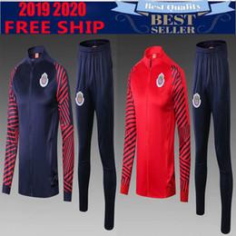 09c30b67856 New 2019 2020 Chivas de Guadalajara tracksuit home Soccer Jersey thai  quality A.PULIDO LOPEZ Football Shir traning suit