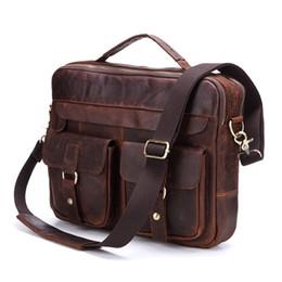 $enCountryForm.capitalKeyWord UK - Nesitu Promotion Vintage Genuine Leather Men Briefcase Messenger Bags Shoulder Bag Portfolio ipad Bag for A4 Paper #M207 #483025