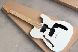 Abalone Guitar Neck Australia - Factory Custom Semi-finished White Electric Guitar Kit(Parts) with Bird Eye Neck,Abalone Fret Inlay,Offer Customized