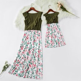 $enCountryForm.capitalKeyWord NZ - ruffled v-neck mother daughter dresses mommy and me clothes family matching outfits look high waist mom mum and baby girls dress