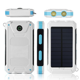 Portable flashlight Solar Charger shockproof Waterproof Rainproof Power Bank Mobile Phone Charger with compass 2 usb port from size solar panels manufacturers