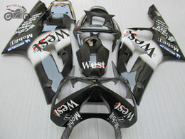 aftermarket fairing kits zx6r Australia - Injection mold body fairings kit for Kawasaki Ninja ZX6R 2003 2004 ZX636 03 04 ZX-6R 636 black WEST Chinese fairing aftermarket parts