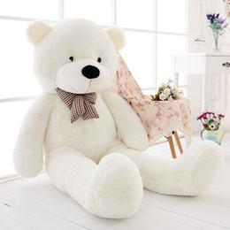 $enCountryForm.capitalKeyWord NZ - Wholesale cheap 47'' Giant White Teddy Bear Big Huge Kids Stuffed Animal LARGE Soft Plush Toy d1