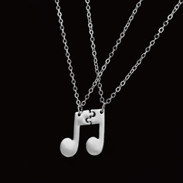 Music notes online shopping - 1 pair New Style BFF best friends music notes pendant necklace woman good friends couple love jewelry