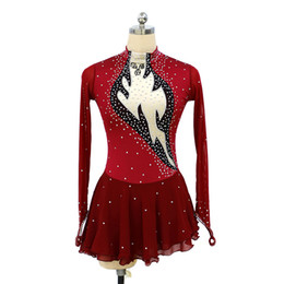 Red Skating Dresses Australia - Eren Jossie 2019 New Arrival Attractive Style Good Quality Big Girls' Ice Skating Dress with Keyhole Back Full Sleeves Professional Design