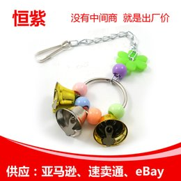 Bell Bird Toy NZ - Parrot Small Bell Gnawing A String Stand Frame Parrot Cage Parts Parrot Articles Toys Pets Bird Toys