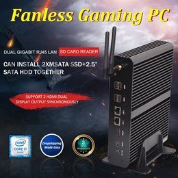 Eglobal Fanless Mini PC TV Box HTPC Intel Core I7 4500U RAM LAN HDMI WiFi неттоп компьютера PC на Распродаже
