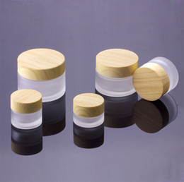 5g 10g 15g 30g 50g Cosmetic Jars Cream Empty Makeup Face Cream Refillable Containers Packing Bottle With Bamboo Cap from wedding royal manufacturers