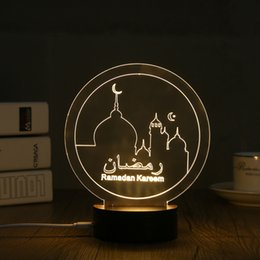 $enCountryForm.capitalKeyWord NZ - 1 Piece Usb Powered Creative 3d Eid Mubarak Led Night Light 3d Ramadan Mubarak Desk Light For Eid Al-fitr Party Decoration Light J190706