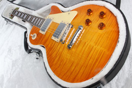 2017 guitar In stock 1959 r9 honey burst LP style standard best tiger fire electric guitar High quality guitar Custom Shop free shipping!