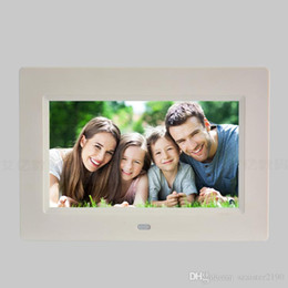 led digital photo frames Canada - 7 Inch Digital Photo Frame LED Backlight Electronic Album Picture Music Video Full Function Good Gift Baby Marry Wedding7 inch digital photo