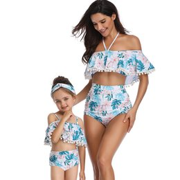 match clothing mom baby Canada - Baby Bikinis Family Clothing Mother Daughter Dresses Mom And Baby Bikini Swimwear Matching Clothes Split Parent-child Swimsuit Y19051103