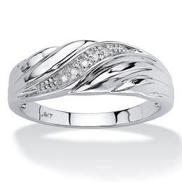 engagement couple ring gold diamond 2019 - Diamond-inlaid couple Engagement Wedding Ring Sliver Color Men Women's 1Set Top Quanlity for Gift cheap engagement