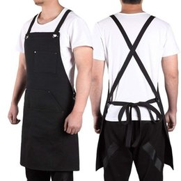 $enCountryForm.capitalKeyWord Australia - Canvas Work Apron with Tool Pockets Cross-Back Straps & Adjustable Apron Heavy Duty With Pockets For Men and Women