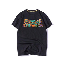 Wholesale head clothing resale online - Fashion Summer Designer T Shirts For Men Tops Tiger Head Letters Embroidery T Shirt Mens Clothing Brand Short Sleeve Tshirt Women Tops S XL