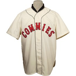 customized youth baseball jerseys 2019 - Decatur Commies 1928 Home Jersey Customized Any Name Any Number Men Women Youth Baseball Jersey S-4XL Cream cheap custom