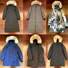 coyote jackets NZ - Real Coyote Fur Women Winter Jacket Snow Women's Goose Down Jacket Designer Jackets North Parka Womens Coat Windbreaker Warm Doudoune Femme