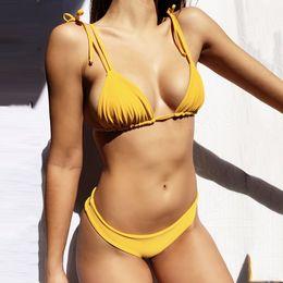 High Waist Bikini Swimwear Australia - Summer Swimwear Women Sexy Bikinis Set 2019 Mujer Brazilian Bathing Suit Women High Waist Yellow Bikini Push Up Swimsuit Women