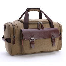 $enCountryForm.capitalKeyWord Australia - Hotsales Large Capacity Luggage Suitcase Unisex Luxury Totes made of High Quality Canvas and Real Leather Travel Totes Handbags Storage Bag