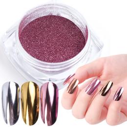 Nails Art Powder Australia - 10pcs lot Nail Art Mirror Pigment Powder Nail Glitter Dip Powder Rose Gold Shining Chrome Decoration UV Gel Polish JIC ASX