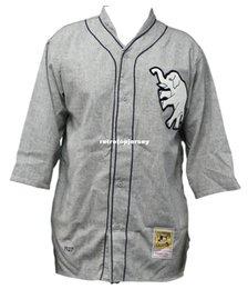 Ingrosso Maglia da baseball di Philadelphia Athletics Mitchell Ness Retro 1927 Wool