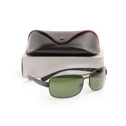 Wholesale Boxes Packaging Australia - 10PCS High quality Brand sunglasses black Frame Green Lens glasses Classic Designer mens womens Sunglasses 3379 Sun glasses With Package Box