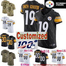 Troy jersey online shopping - 100th patch custom Steelers Jersey Men Youth Women Jerome Bettis Joe Haden Terry Bradshaw Troy Polamalu James Conner Shazier Elite Limited