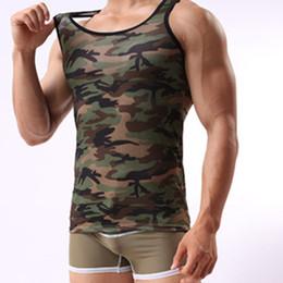 $enCountryForm.capitalKeyWord Australia - tank tops summer man Sleeveless Men's Camouflage Vest Sportswear Tank Top fitness workout d90701