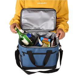 Picnic Ice Packs Australia - Men Shoulder Lunch Bag Tote Large Capacity Thermal Insulation Cooler Bag Ice Pack Portable Picnic Fruit Storage For Women
