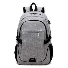 nylon 17 inch laptops UK - 17.3 inch Laptop Rucksack business Backpack Travel Backpack Large Capacity Business Bags USB Charge College Student School Bags hot