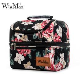 Cooler Handbags Australia - Brand Nylon Cooler Lunchbox Insulated Thermal Food Fresh Wine Picnic Tote Handbags Men Women Cooler Bag Lunch Bag