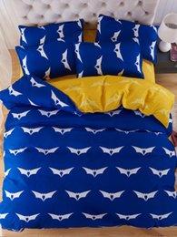 Cartoon Bats Australia - 4Pcs Bed Cover Set Modern Design Bat Cartoon Comfortable Sheet Cover