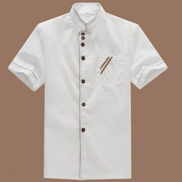 Chinese  Summer Kitchen Chef Jacket Uniforms Short Sleeve Hotel Cook Clothes Food Services Frock Coats Work Wear Chef Uniform manufacturers