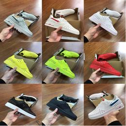 Venta al por mayor de Venta caliente nike air force 1 AF1 para hombre para mujer corte alto Skateboarding zapatos deportivos Pareja rojo negro Moda de Lujo Diseñador tenis zapatos