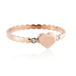 $enCountryForm.capitalKeyWord UK - Brand T ring Titanium Steel Sliver Rose Gold and Gold plated love CZ Ring gold for lovers couple Ring Top quality