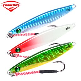 Casting Jigs Australia - tackle 5pcs lure 7 10 14 17 21 28g 40g Lead Fish hook with feather 5 color fishing Bait Casting Lure Tackle