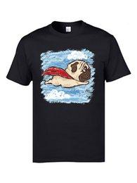 $enCountryForm.capitalKeyWord Australia - Flying Pug Terrier Dog Youth T Shirts Poodle Good Quality Summer Tops Shirts O Neck Cotton Fabric Clothing Shirts Sweatshirt
