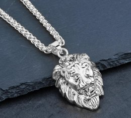 $enCountryForm.capitalKeyWord Australia - Gold one Hot Mens Hip Hop Jewelry Iced Out 18K Gold Plated Fashion Bling Bling Lion Head Pendant Men Necklace Gold Filled For Gift Present
