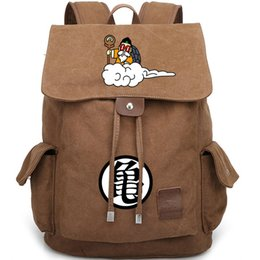 cool cartoon boys NZ - Kame Sennin backpack Master Roshi day pack Cool role old man school bag Canvas packsack Durable rucksack Sport schoolbag Outdoor daypack