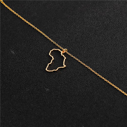 Egypt Pendants Australia - hollow Africa Map Necklace Egypt South Africa Kenya Nigeria Map Africa Pendant Necklace Jewelry Hometown Lucky Clavicle Necklace