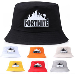 ad9f7a81c48 7 Colors Game Fortnite Bucket Hat Cotton Fisherman Hats Summer Fortnite  Printed Visor Cap Fashion Sunhat Fishing Outdoor Topee Caps 2018
