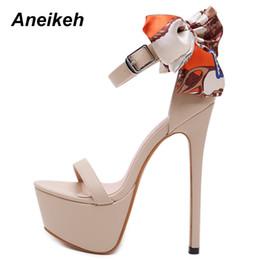 $enCountryForm.capitalKeyWord Australia - Aneikeh New Sexy 16cm Ultra High Heels Butterfly-knot Sandals For Women Summer Platform Open Toe Shoes Woman Sandals Pumps Black Y19070103